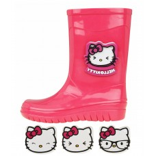 BOTA GALOCHA INFANTIL HELLO KITTY ROSA